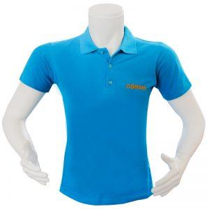 mavi nakışlı tshirt
